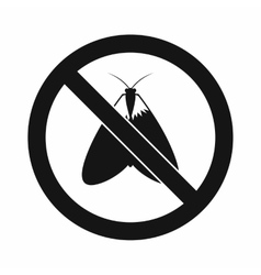No moth sign icon simple style vector