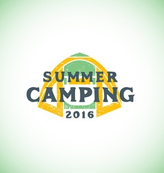Color summer camping sign template vector