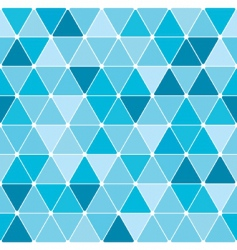 winter triangle pattern background vector image