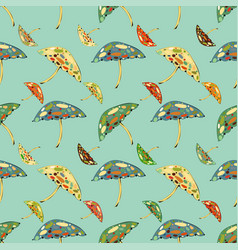 Abstract umbrellas seamless pattern background vector