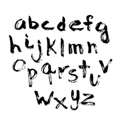 alphabet in calligraphy brush vector image