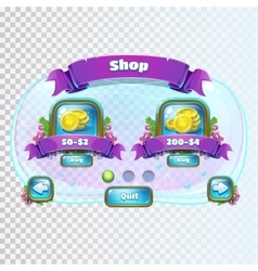 Atlantis ruins shop window vector