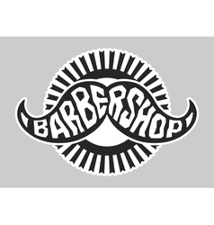 Barbershop logo Black and white vector image vector image