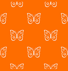 Butterfly peacock eye pattern seamless vector