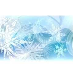 Christmas background light snowflakes vector image vector image