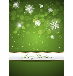 Christmas beautiful green background vector image vector image
