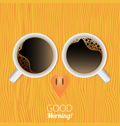 Cups of coffee good morning abstract owl vector