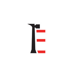 e letter repair logo vector image vector image