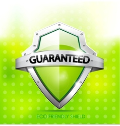 Eco friendly guarantee shield vector image