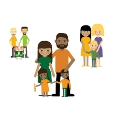 Families with kids people set Gay couple with vector image