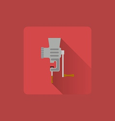 Flat icon manual meat grinder utensils vector
