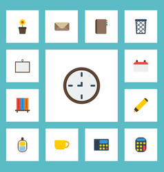 flat icons contact whiteboard identification and vector image