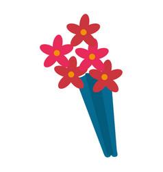 Flowers bouquet decoration present vector