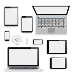 Laptops tablets and smartphones vector