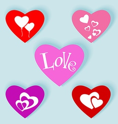 Love web buttons-flat2 vector image