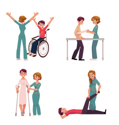 Medical rehabilitation physical therapy vector