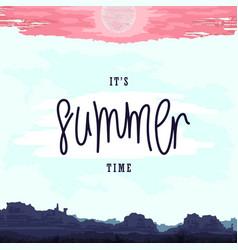 oldschool summer poster vector image vector image