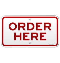 Order Here Notice vector image