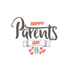 parents day badge design sticker stamp logo - vector image