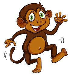 Playful brown monkey vector