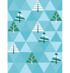 Winter background with triangle texture vector