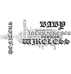 Wireless baby monitors night day text word cloud vector