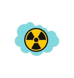 Radioactive air icon flat style vector