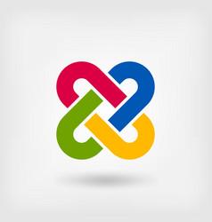 Multicolor solomon knot vector