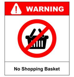 No shopping basket sign vector