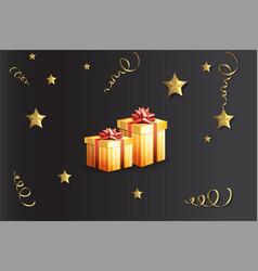 A gift boxes vector
