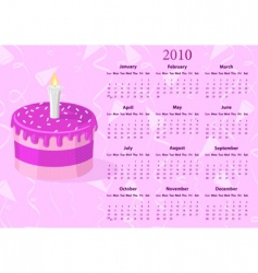 American calendar with cake vector image