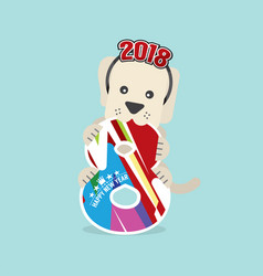 2018 year of dog vector image vector image