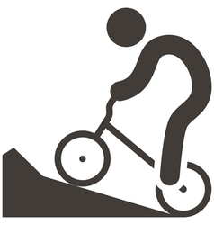 Cycling bmx icon vector