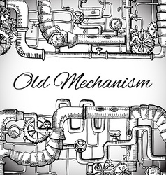 Background steampunk vector