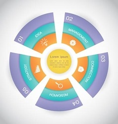 Business circle step diagram presentation vector