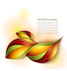 Autumn abstract background orange leaves vector
