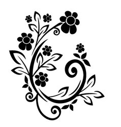 Flourishes black vector