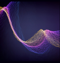 Abstract destroyed violet flame mesh vector