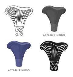 Actarius indigo icon in cartoon style isolated on vector