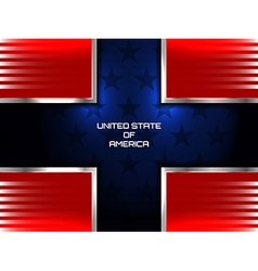 American flag cross background vector