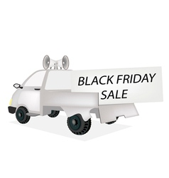 Black Friday Card on A Pickup Truck vector image vector image