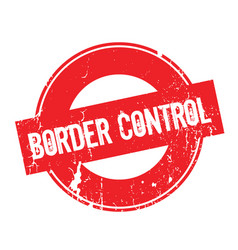 Border control rubber stamp vector