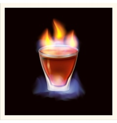 Burning drink - vector image