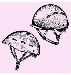climbing helmet vector image