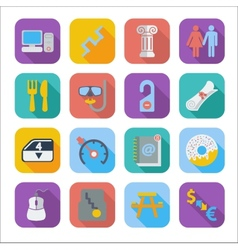 Color flat icons 5 vector