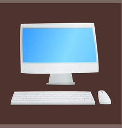 desktop computer technology isolated icon vector image