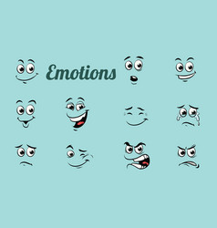 emotions characters collection set vector image vector image