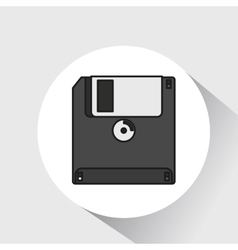 floppy disk save icon vector image
