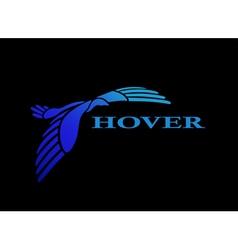 Flying bird logo design template vector image
