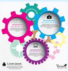 Gears can be used for workflow layout diagram vector image